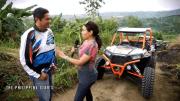 Off-roading in a Polaris ATV