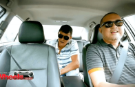 Kap drives Matteo around in a Toyota Camry