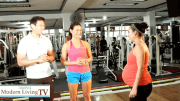 """Home Gym"" set up with Coach Jim and wife Toni Saret"