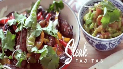 Feast With Me: Steak Fajitas with Bubbles Paraiso