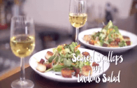 Feast With Me: Seared Scallops and Lardons Salad Recipe with Charles Tiu
